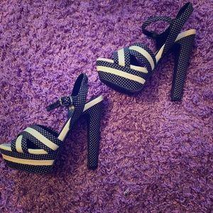Jessica Simpson polka dot heels